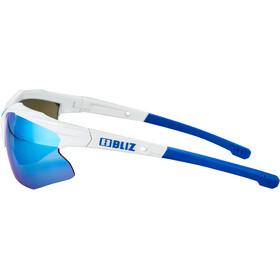 Bliz Hybrid M12 Lunettes, white /smoke with blue multi